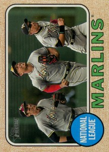 Topps Heritage Marlins Team Card