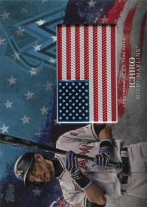 Topps Independence Day Flag Patch Blue /50