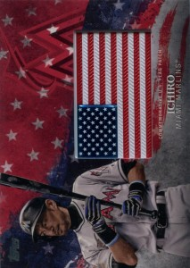Topps Independence Day Flag Patch Red /25