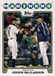 Topps Manager John McLaren with Ichiro