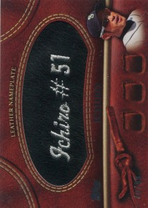 Topps Manufactured Glove Leather Nameplate Black /99