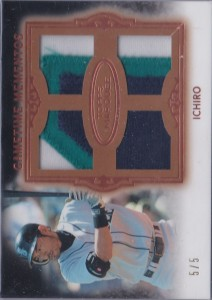 Topps Marquee Gold Gametime Mementos Quad Patch #5 /5