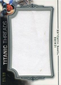 Topps Marquee Titanic Threads Jumbo Relic /99