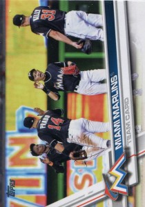 Topps Miami Marlins Team Card