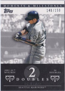 Topps Moments & Milestones White 7 Doubles 2