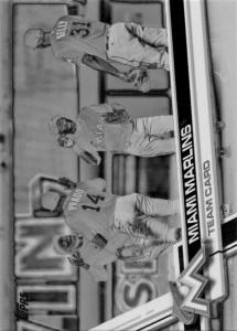 Topps Negative Miami Marlins Team Card
