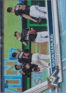 Topps Rainbow Foil Miami Marlins Team Card