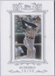 Topps Sterling White Suede #49 /50