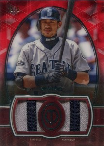 Topps Tribute Red Single Player Dual Relic Patch /5