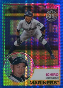 Topps Update Silver Pack Promo Blue Refractor /150