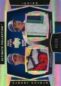 Ultimate Collection Dual Patch Game Used w Pujols /99