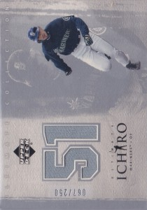 Ultimate Collection Silver Ichiro Away Game Jersey /250