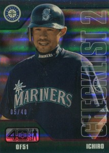 Upper Deck 40 Man Checklist Electric Rainbow /40