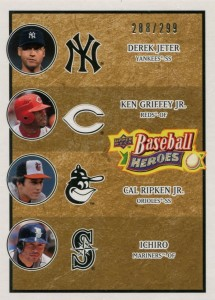 Upper Deck Baseball Heroes Beige Multiplayer /299