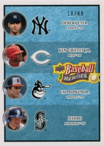 Upper Deck Baseball Heroes Light Blue Multiplayer /49
