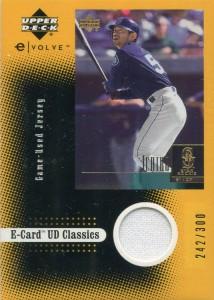 Upper Deck Evolution E Card Jersey /300
