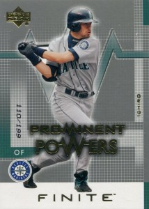 Upper Deck Finite Prominent Powers Gold /199