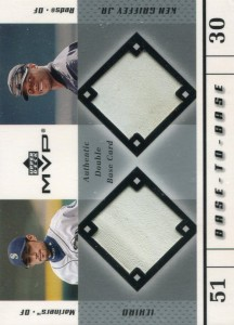 Upper Deck MVP Base to Base Dual Game Used Base w/ Griffey Jr.